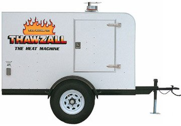 Thawzall Ground Thawer and Concrete Curing Machine